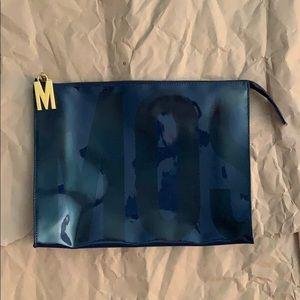 """Moschino Redwall Navy Blue Bag 11.5"""" x 9.5"""" x 3"""""""